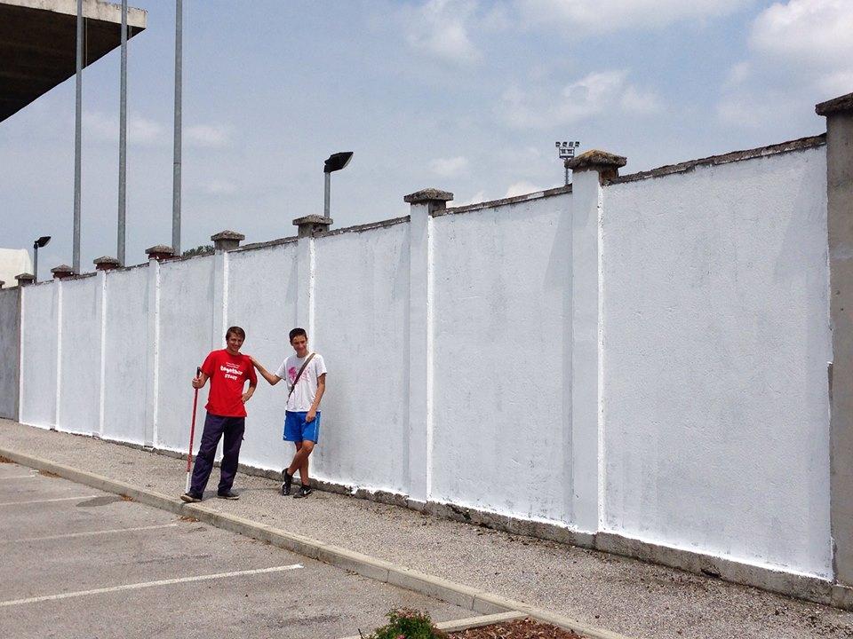 parete campo sportivo torviscosa
